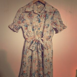 "Vintage ""growing girls"" wicked cute bird dress!"